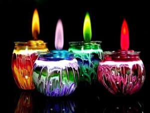 velas y colores